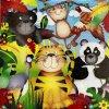 6092 ubrousek 33x33 zoo animals