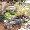 7679 ubrousek 33x33 cm patio morning in provence