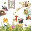 14477 ubrousek 33x33 cm magic easter rabbit