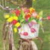 14486 ubrousek 33x33 cm tulip basket