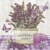14858 ubrousek 33x33 cm lavender in a wooden pot