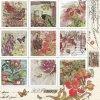 14948 ubrousek 33x33 cm vintage style stamps