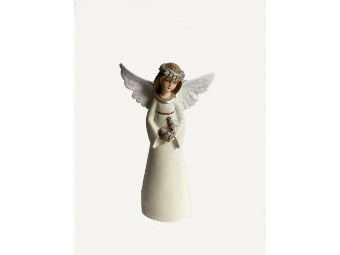 Vánoční anděl s ptáčkem /S