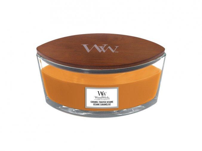 Woodwick Opečený karamelový sezam - loď /S