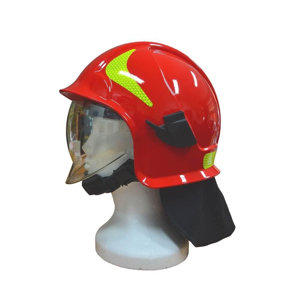 Zásahová přilba Intechplast, Vulkan CV102 T, barva červená