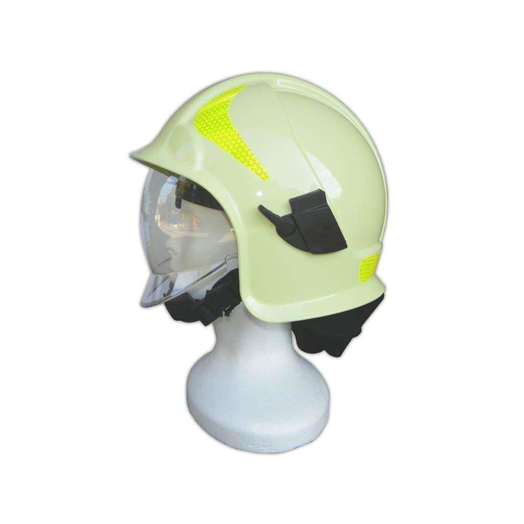 Zásahová přilba Intechplast, Vulkan CV102, barva žluto-zelená s reflexními prvky