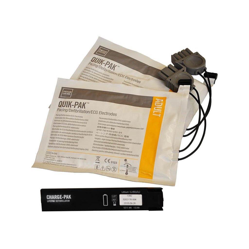 Nalepovací sada elektrod a dobíječky pro AED defibrilátor PHYSIO-CONTROL LIFEPAK CR Plus (dospělí)