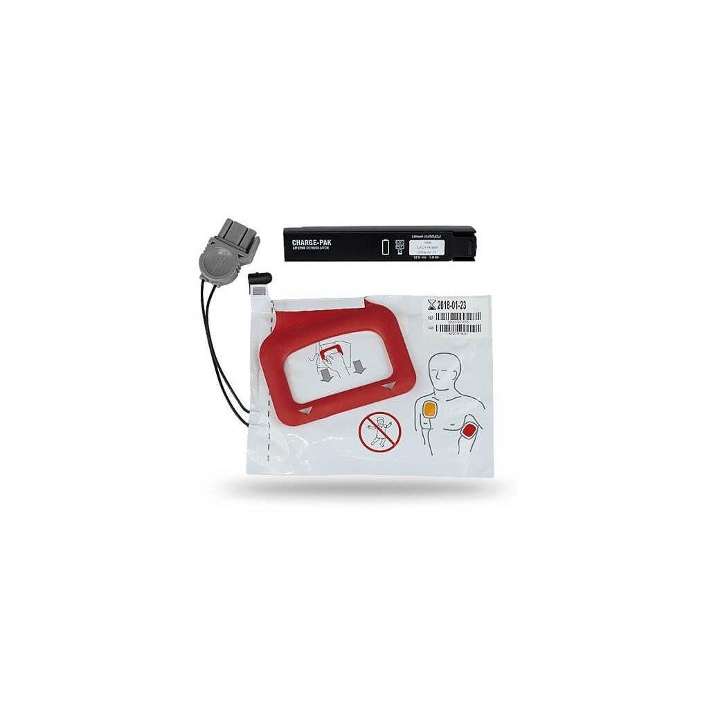 Sada pro AED Defibrilátor Physio-Control, LIFEPAK CR Plus (1ks) elektrod (1ks) dobíječky