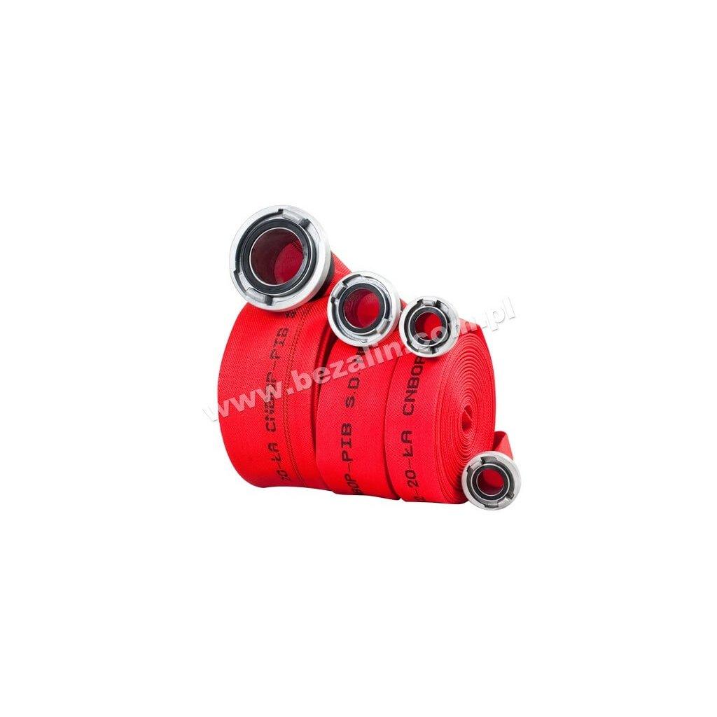 Zásahová hadice BEZALIN, C52 (20m) AL - s povrchovou úprava, červená