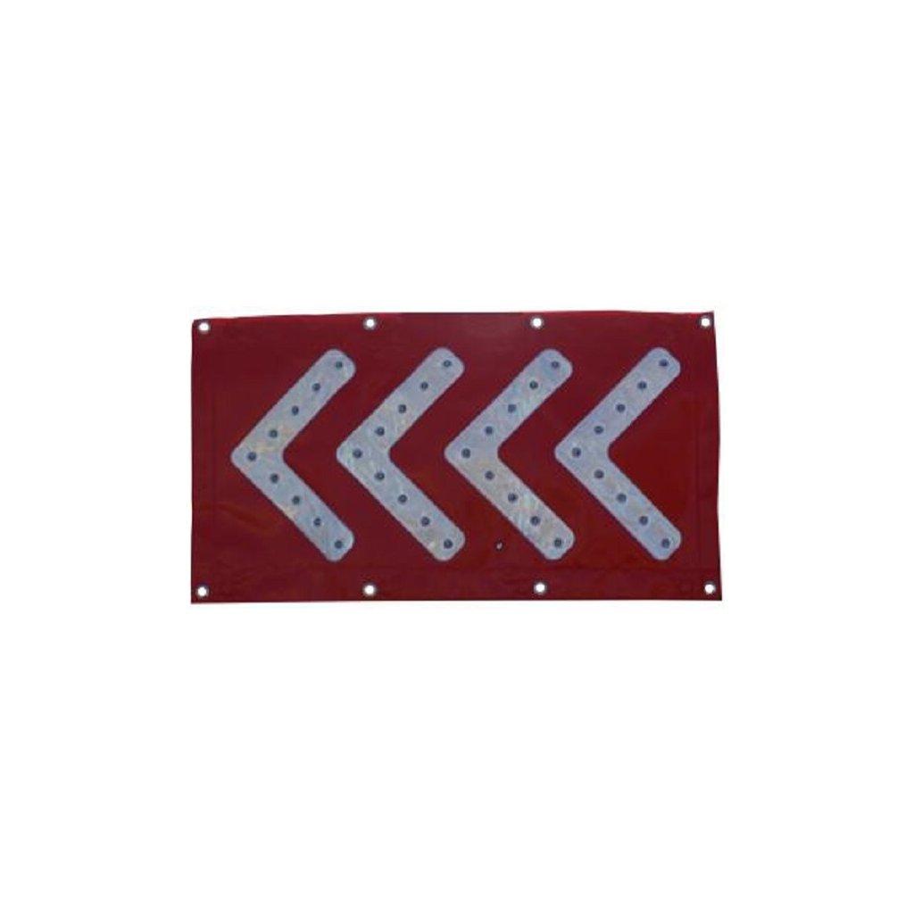 Šipka směrová červená s LED osvětlením Z03