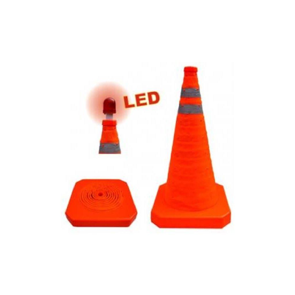 Dopravní kužel skládací s LED osvětlením (56cm)