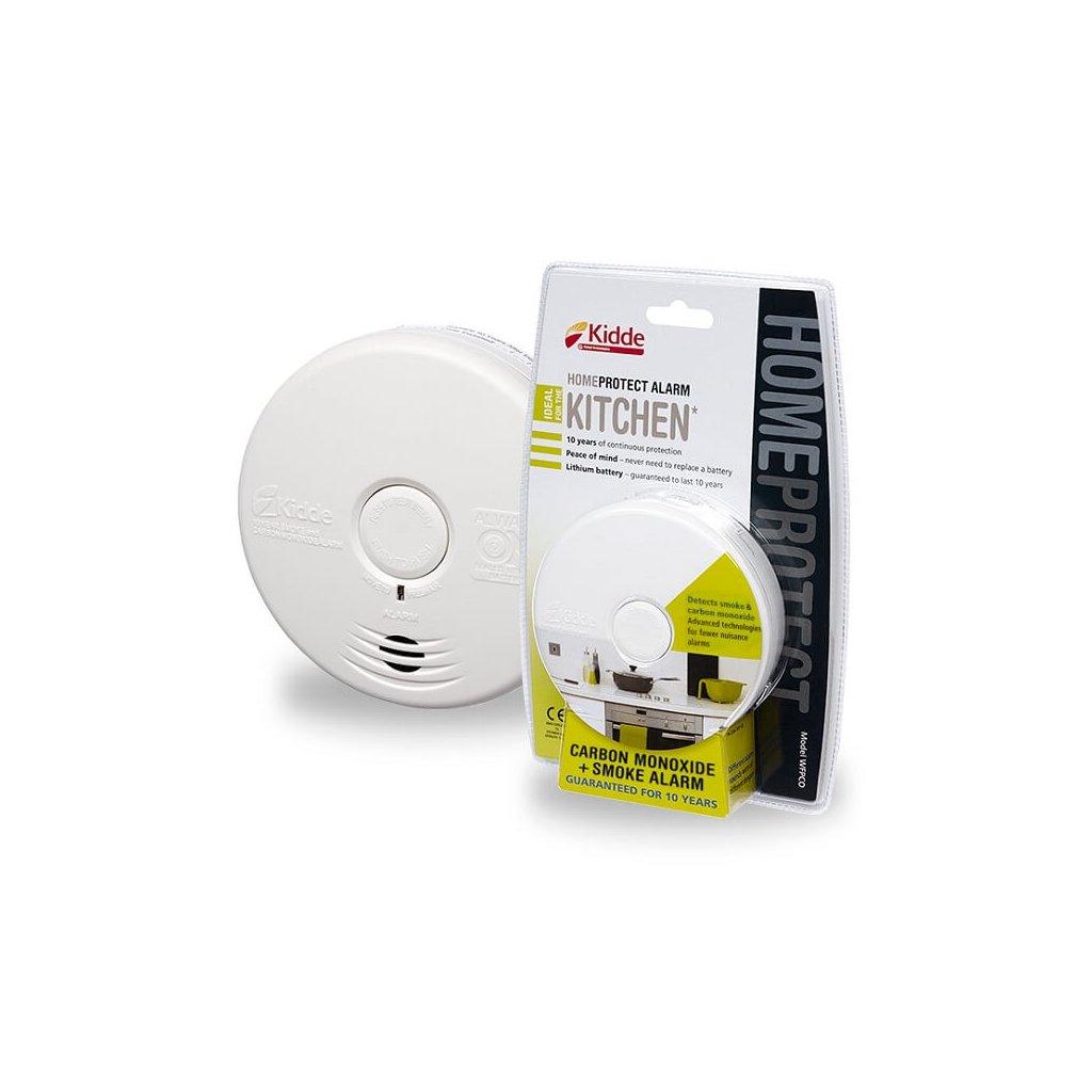 Kombinovaný hlásič požáru a CO pro kuchyně Kidde WFPCO Home Protect