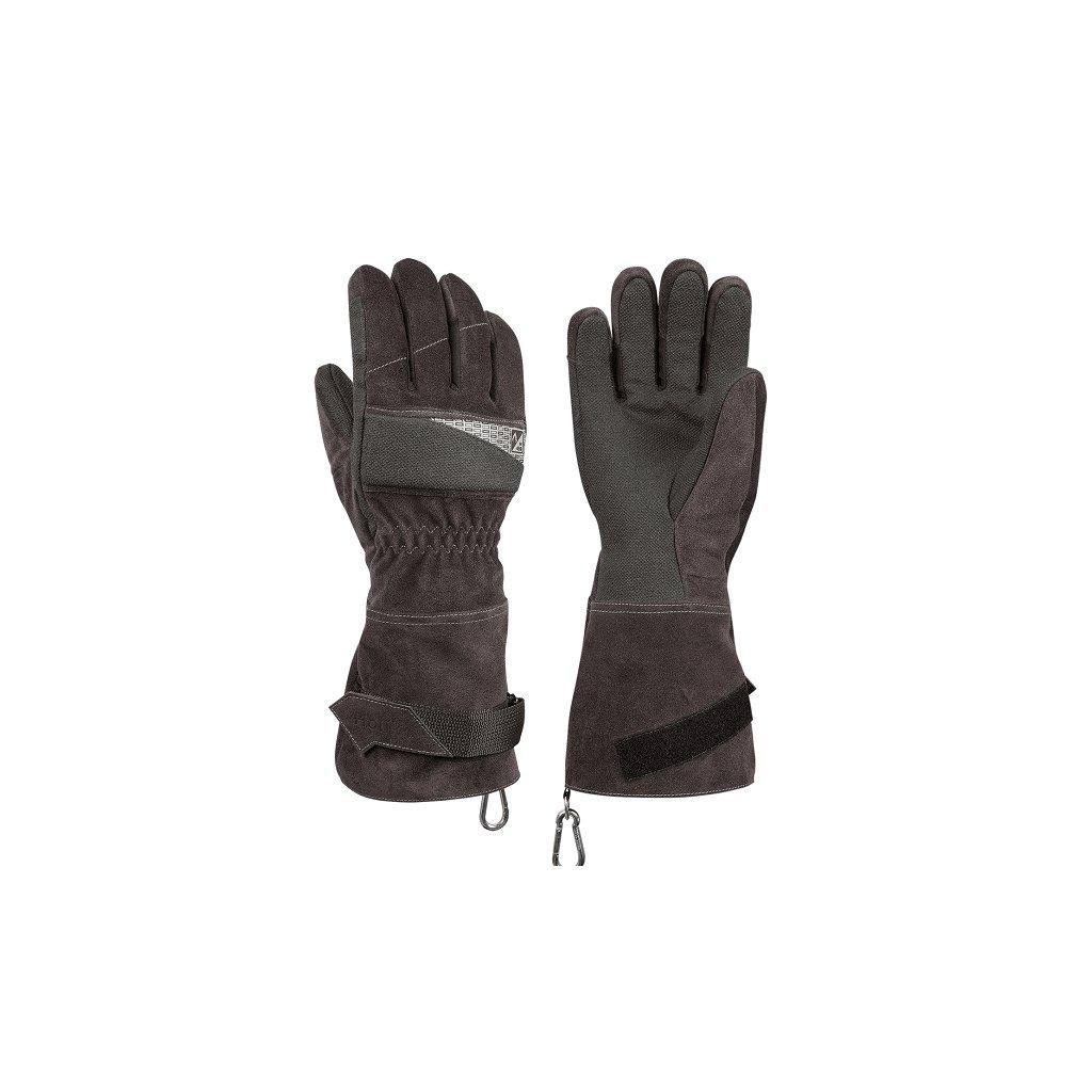 Zásahové ochranné rukavice HOLÍK Regina Grey 8056 pro hasiče