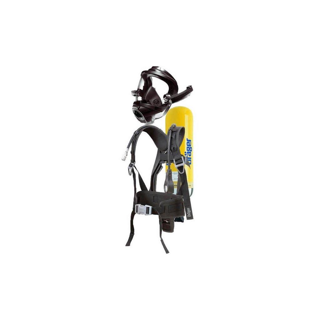 Dýchací přístroj Dräger 3000 nosič PSS 3000, plicní automatika, 5ti bodový kříž, láhev ocel 6L 300bar, SET