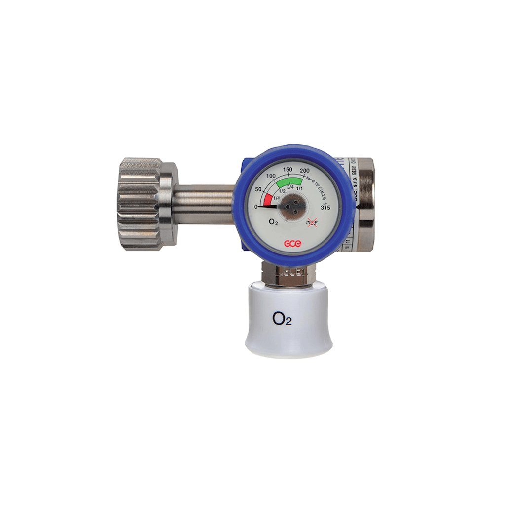 Lahvový redukční ventil GCE MEDIREG II 50l/min (O2)