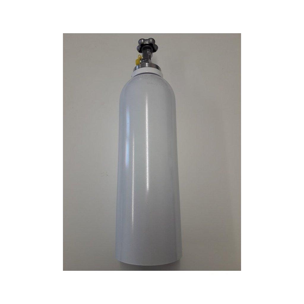 Tlaková medicinální lahev hliniková pro kyslík Luxfer - 6000, 5 L/200 bar, závit 25E, vypouštěcí ventil