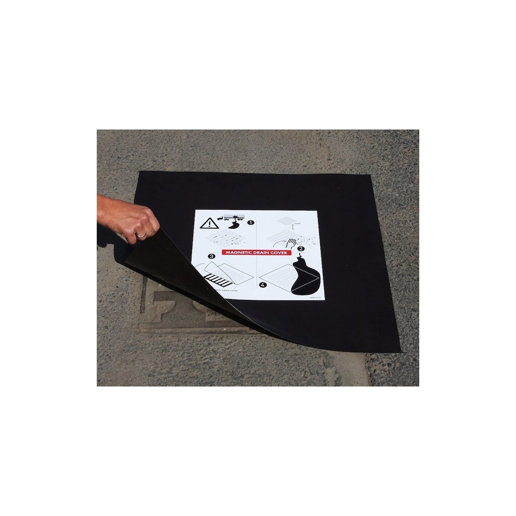 Kanalizační ucpávka magnetická Eccotarp, MDC 03 s nástěnnou deskou 615 x 615 x 0,6 2