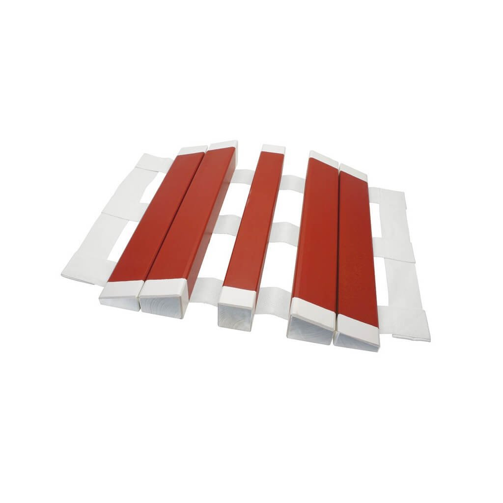Přejezdový můstek na hadice dřevěný (C52/B75) červený