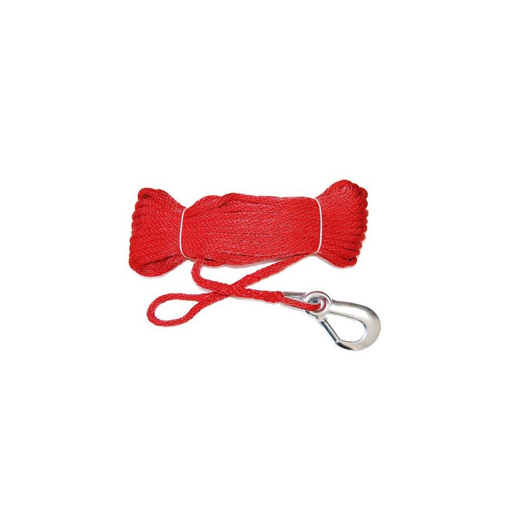 Záchytné lano s karabinou (20m) červené