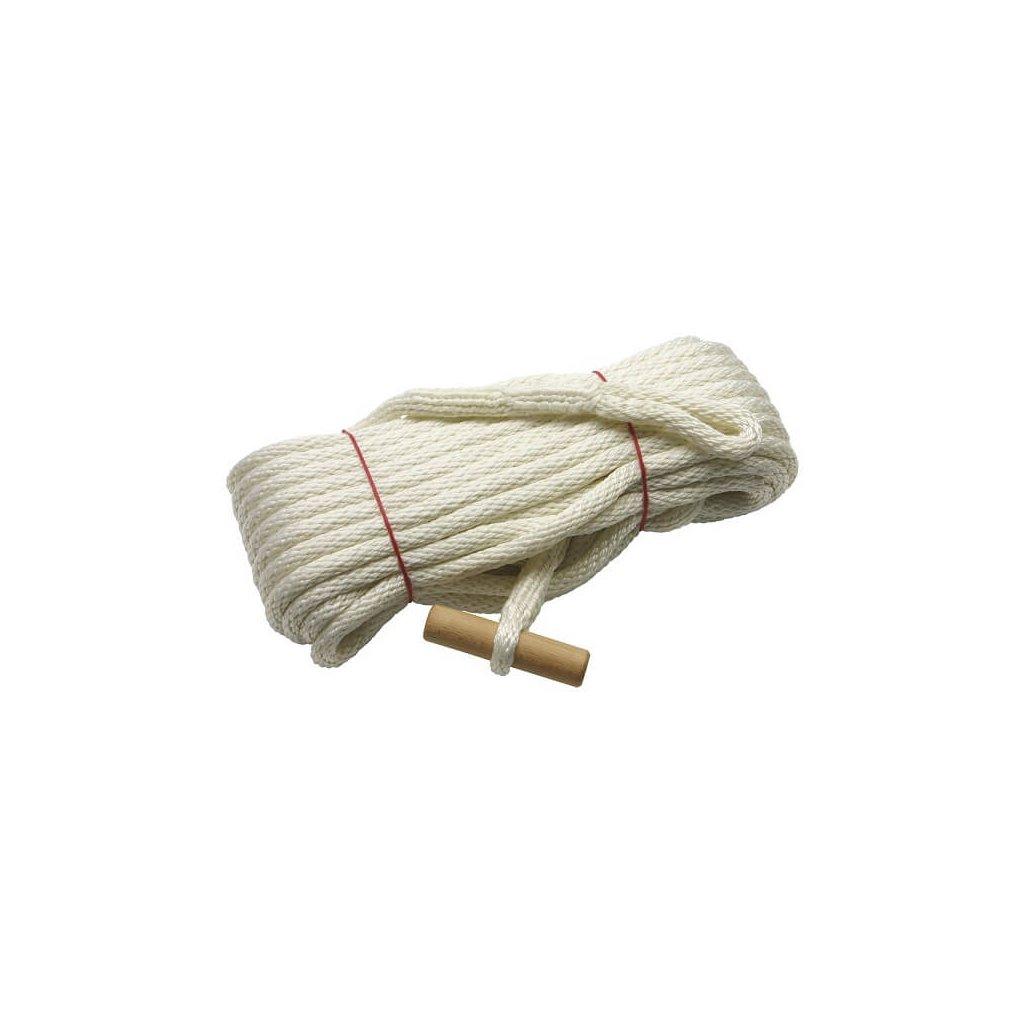 Záchytné lano s okem, délka 20 m, barva bílá