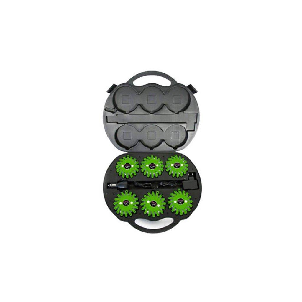 SET Výstražné světlo LED Power Flash 306Z v profi kufru s nabíjecím příslušenstvím