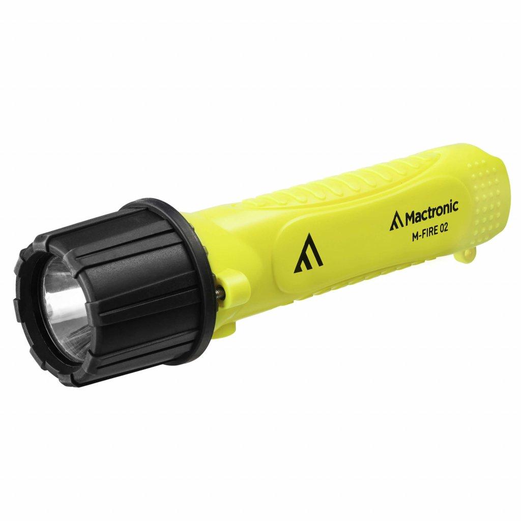 Svítilna na přilby Mactronic M-Fire, 02 Cree LED certifikací ATEX a krytím IP68