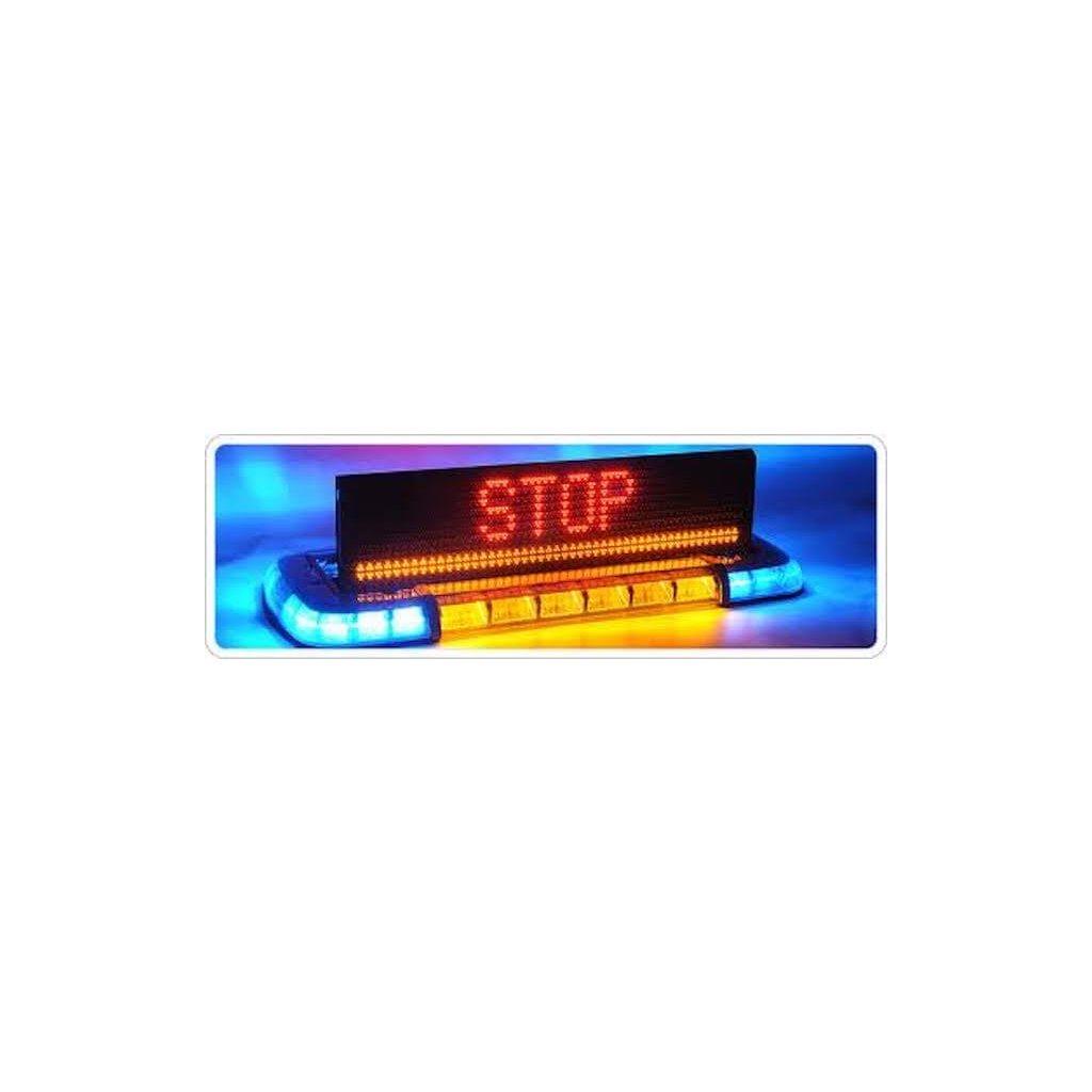 Majáková rampa Federal Signal Vama, TRAFIC STORM, LED, barva modrá 2