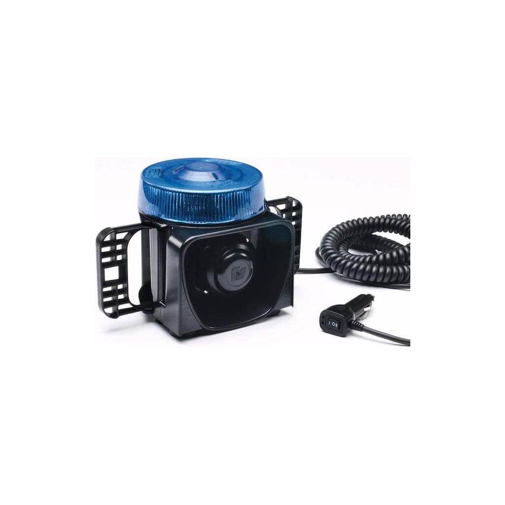 Maják magnetický včetně sirény Federal Signal Vama, LM500, barva modrá 2