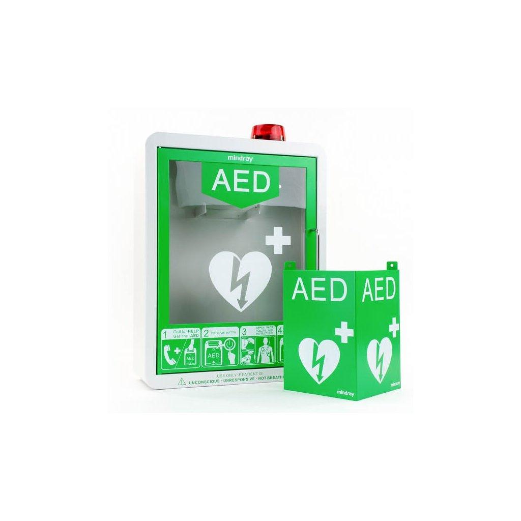 Nástěnný úložný box s akustickým alarmem pro defibrilátor Mindray, BeneHeart D1
