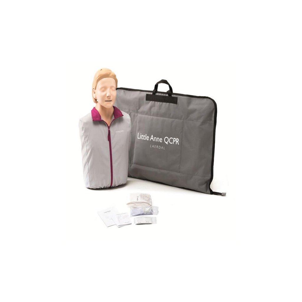 Cvičná figurína Laerdal, AED Little Anne pro nácvík s QCPR použití cvičného automatického defibrilátoru