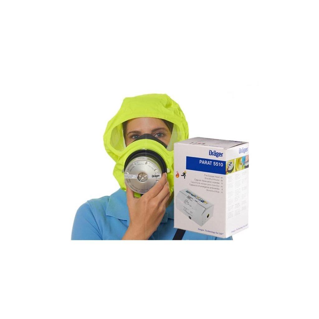 Úniková maska Dräger, PARAT® 5510 Single Pack, samostatné balení v papírové krabici 2
