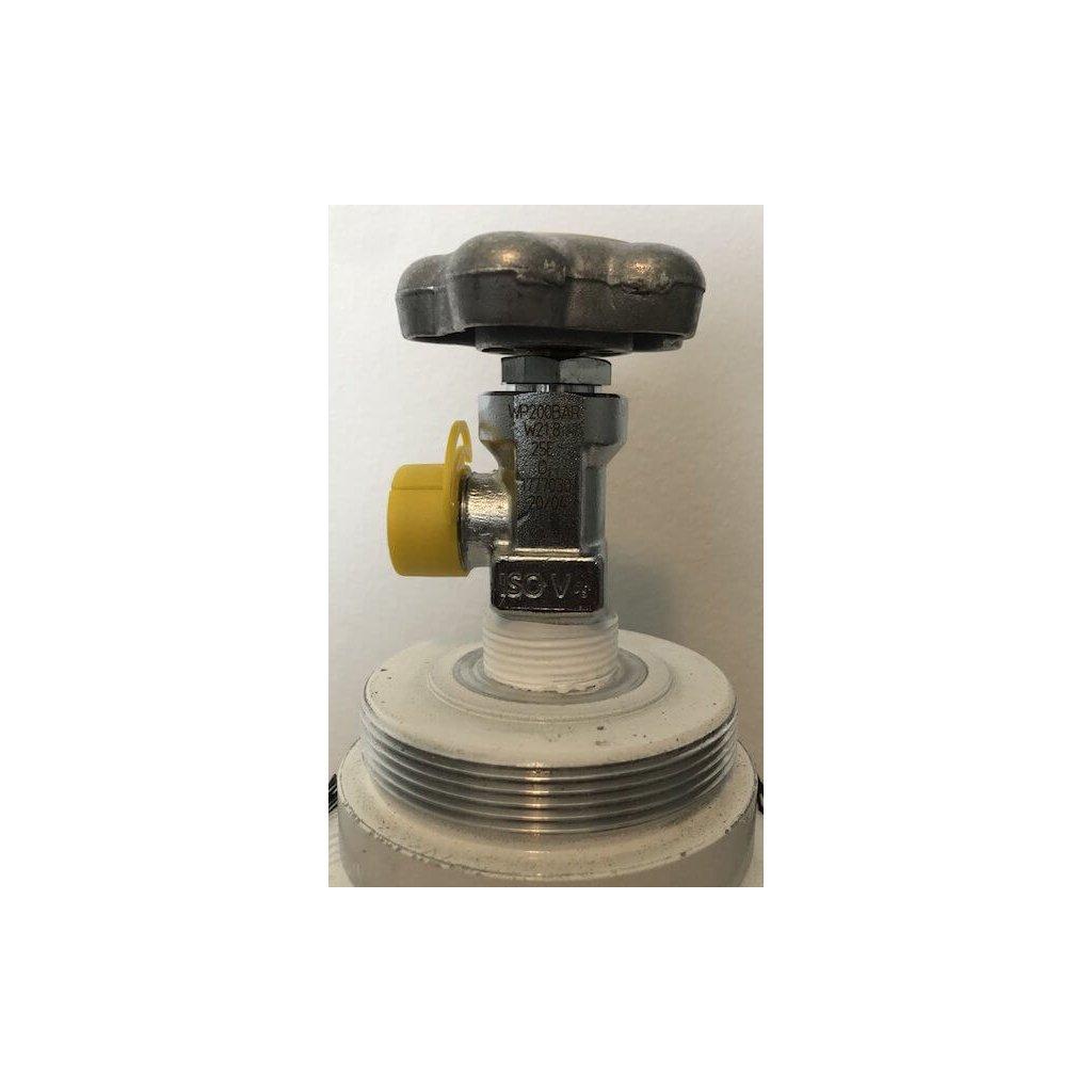 Ventil pro medicinální tlakovou lahev O2, Inlet 25E, outlet W21.8