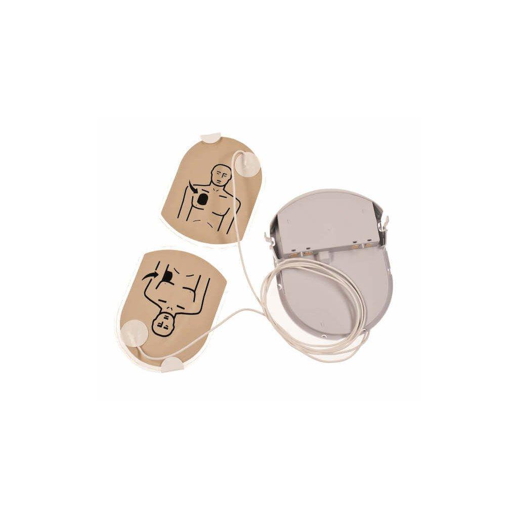 Nalepovací sada elektrod pro AED defibrilátor HeartSine, PAD PAK 04 pro dospělé, 1ks elektrod, 1ks dobíječky 2