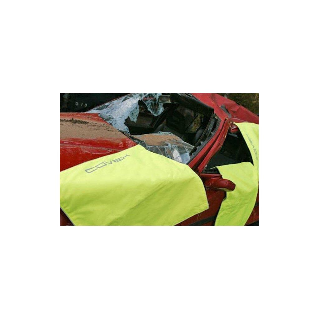 Ochranné pokrytí automobilů při dopravní nehodě Hobrand, COVEX - Fluor Yellow