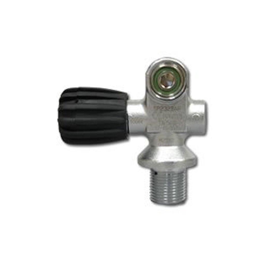 Ventil na tlakovou potápěčskou lahev LUXFER, SCUBA ventil M25x2, DIN:INT, Bouyancy empty max.1,9kg