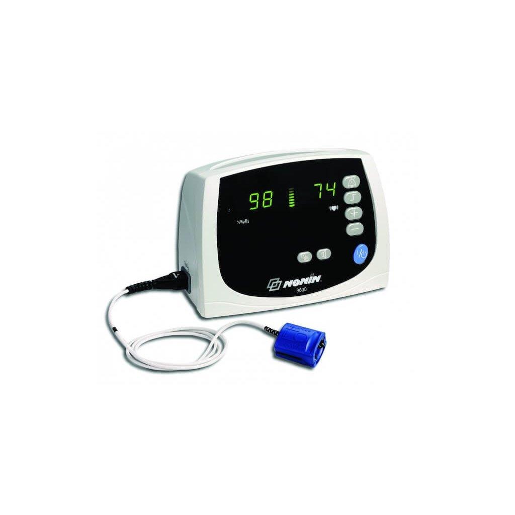 Pulsní oxymetr stolní NONIN, 9600 Avant s alarmy včetně pevného senzoru 8000AA 3