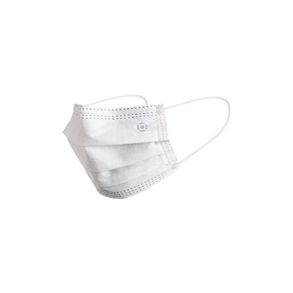 Čtyřvrstvá jednorázová rouška s NANO filtrem, EN 14683:2019 + AC:2019, barva - bílá, balení 50ks, výroba ČR