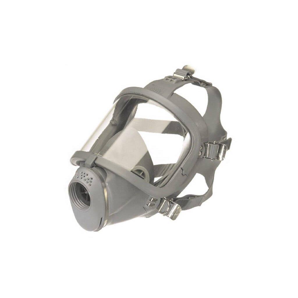 Maska pro dýchací přístroj MEVA SARI přírodní pryž (náhlavní kříž) zorník PC