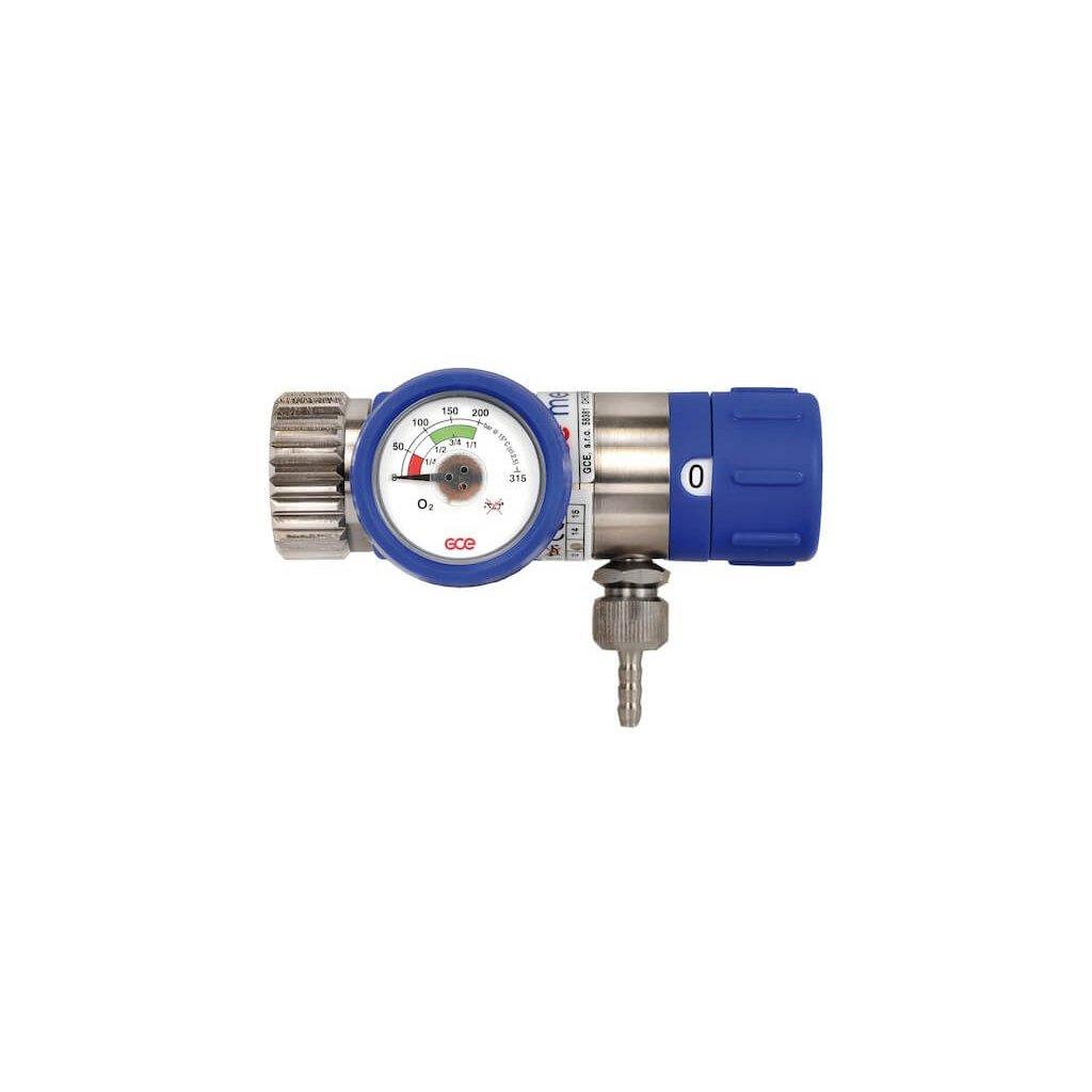 Lahvový redukční ventil GCE MEDISELECT II 25l/min (O2)