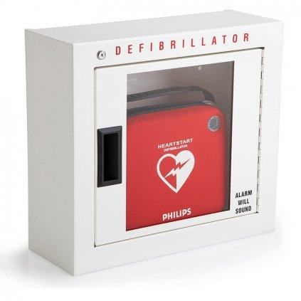 Nástěnná skříňka s alarmem pro AED defibrilátor PHILIPS HeartStart FRx