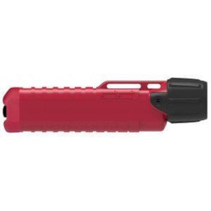 Svítilna UK4AA eLED Herculite (ATEX) s odolností vůči chemikáliím, 180 lm, 4xAA - červená (na přilbu)