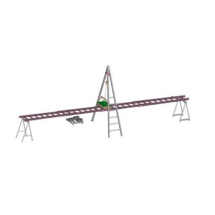 Zkušební dráha pro žebřík Tauchman SWS linearní 2