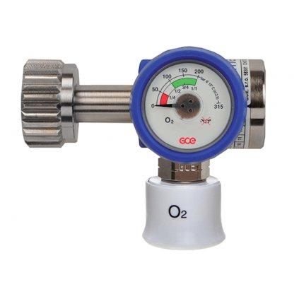Lahvový redukční ventil GCE, MEDIREG II 50 l/min, O2