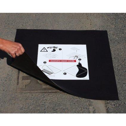 Kanalizační ucpávka ECCOTARP magnetická MDC 03 s nástěnnou deskou 615x615x0,6