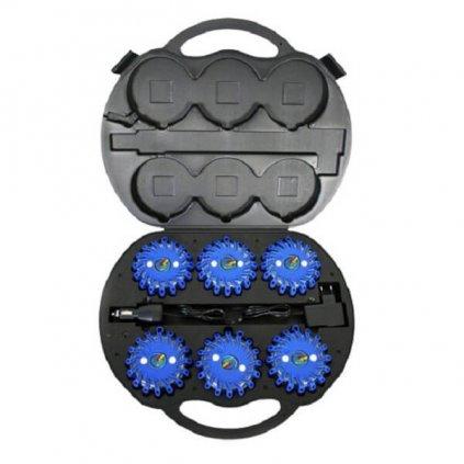 SET výstražné světlo LED Power Flash 306M v profi kufru s nabíjecím příslušenstvím