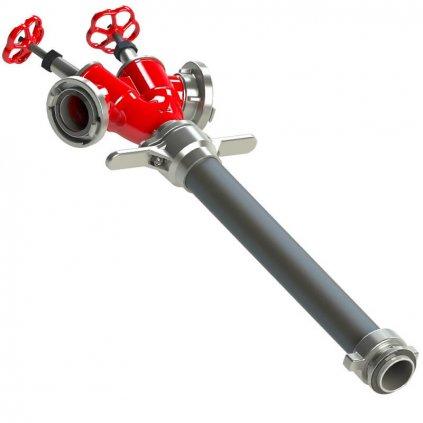 Hydrantový nástavec vřetenový POK, 2x B75 DN80,01
