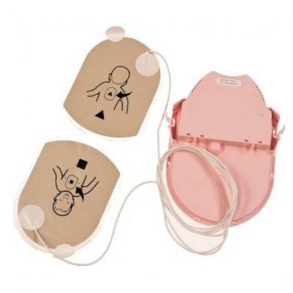 Nalepovací sada elektrod pro AED defibrilátor HeartSine, PAD PAK 03 pro děti, 1ks elektrod, 1ks dobíječky 2