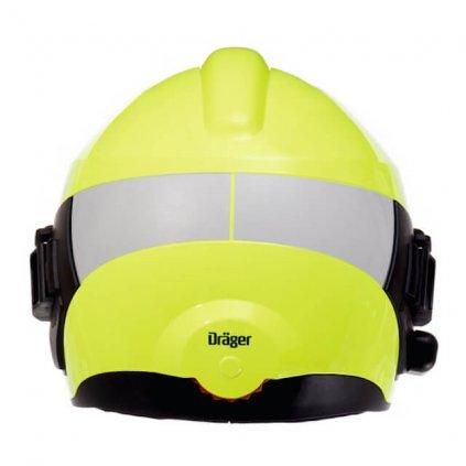 Reflexní pás na přilbu Dräger, HPS 7000, zadní, barva stříbrná 2