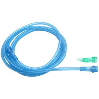 Kyslíková spojovací hadička o délce 2,1 m zelená (GL)