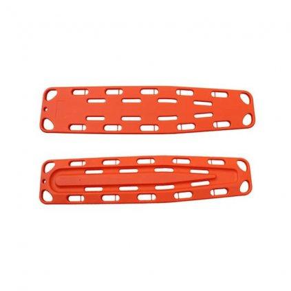 Páteřní deska pro transport pacienta, plave na vodě, oranžová 2